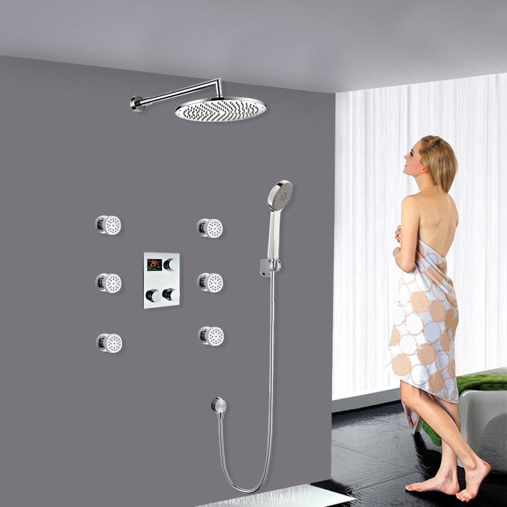 "10"" Thermostatic Digital Display shower system"