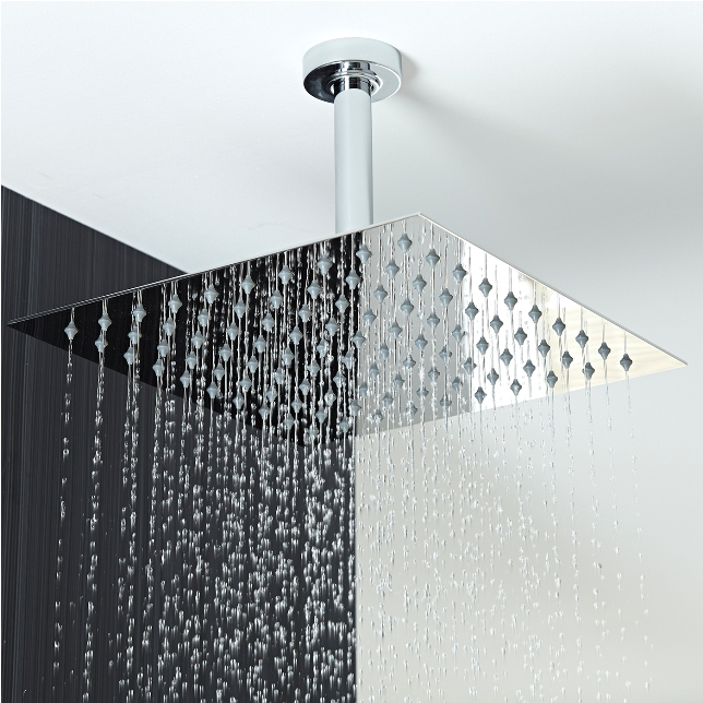 4 Jetted Body Massage Shower System with Rain Shower Head / Hand Shower
