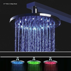 Round Color Changing LED Rain Shower Head