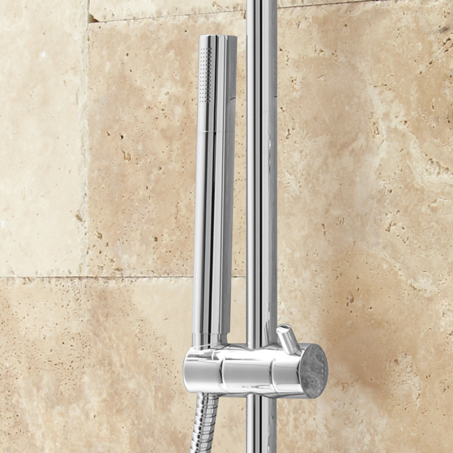 Cali Thermostatic Wall Mount Shower System With Six Body Jets in Chrome Finish