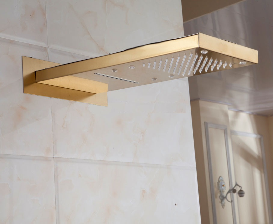 Gold Shower Heads | Gold Shower Faucets | Gold Shower Systems