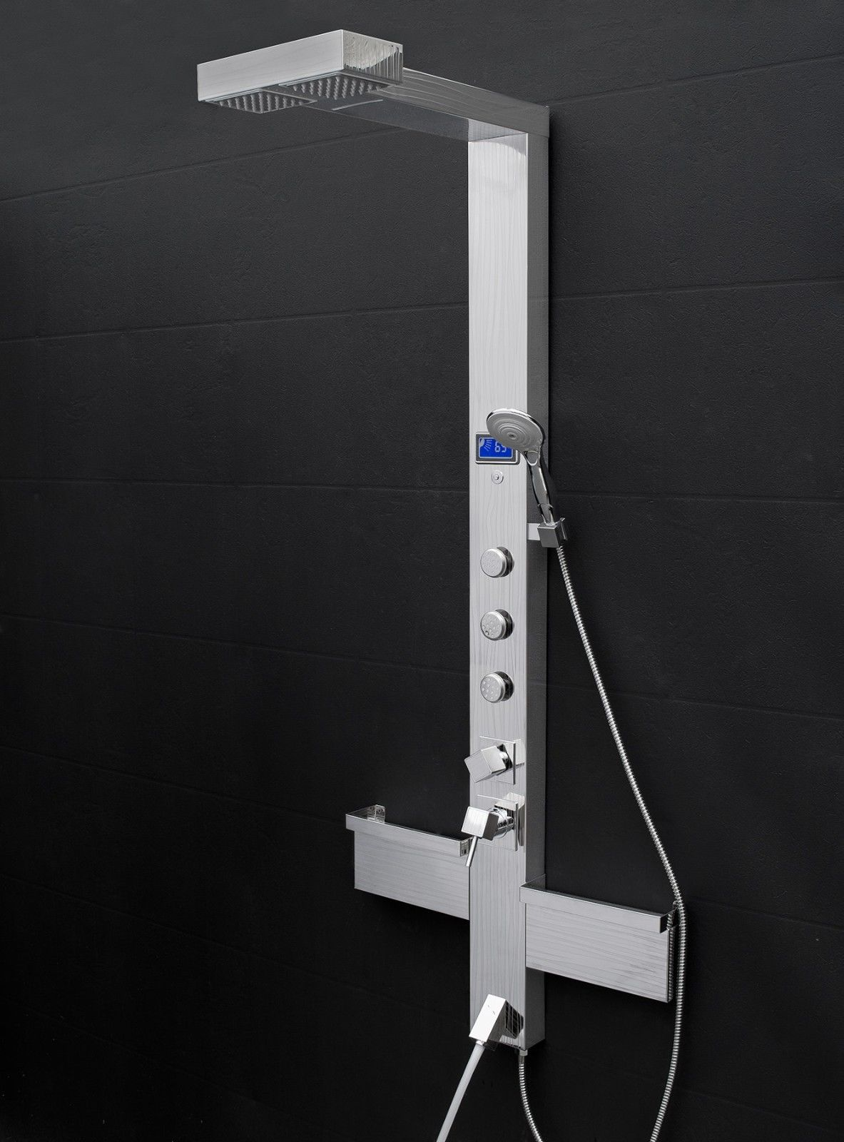 Hammer Stainless Steel Rainfall Shower Panel with Handheld Shower Head