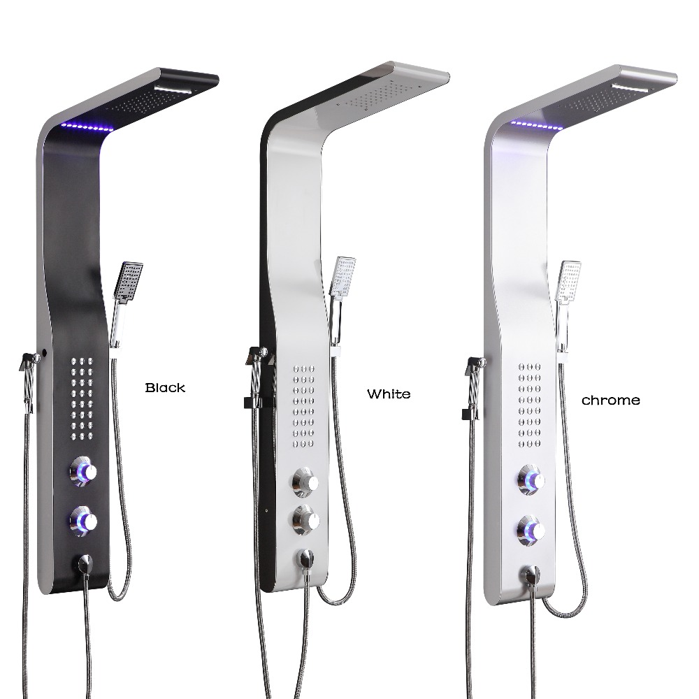 LED Shower Head   LED Shower Panel   LED Shower-Panel Set Hand-Shower
