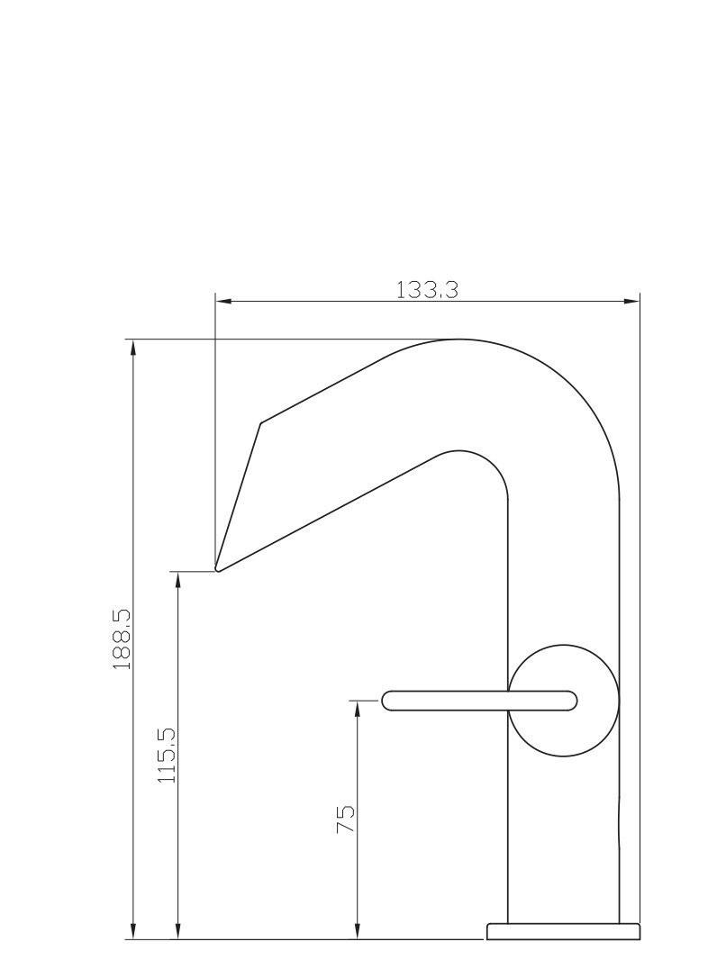 La Paz Sink Single Hole Faucet Mixer In Black