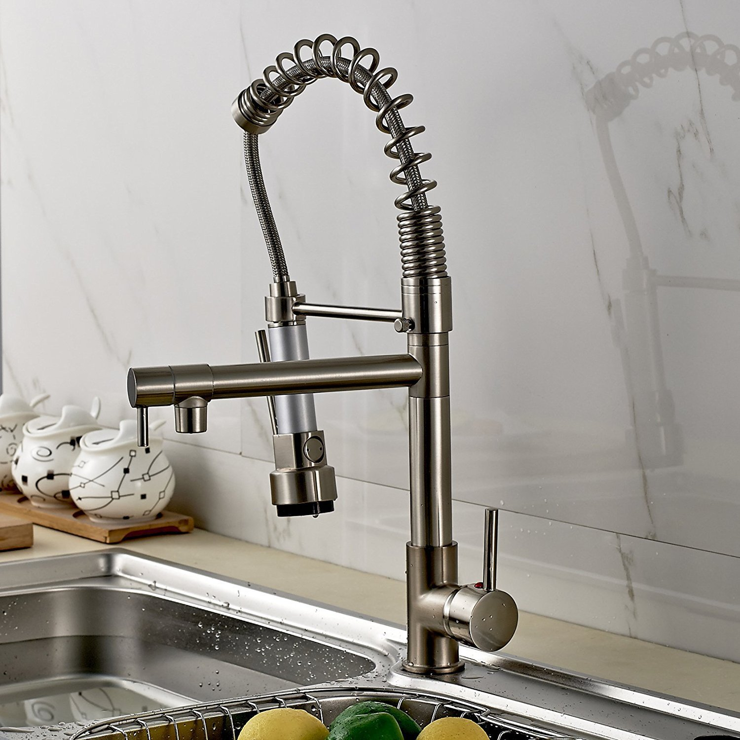 Sorrento Kitchen Sink Faucet With Pull Down Mixer Tap