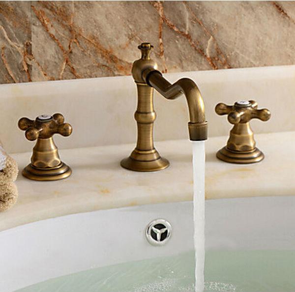 Vintage Antique Style Basin Mixer Tap Vessel Bathroom Sink Faucet