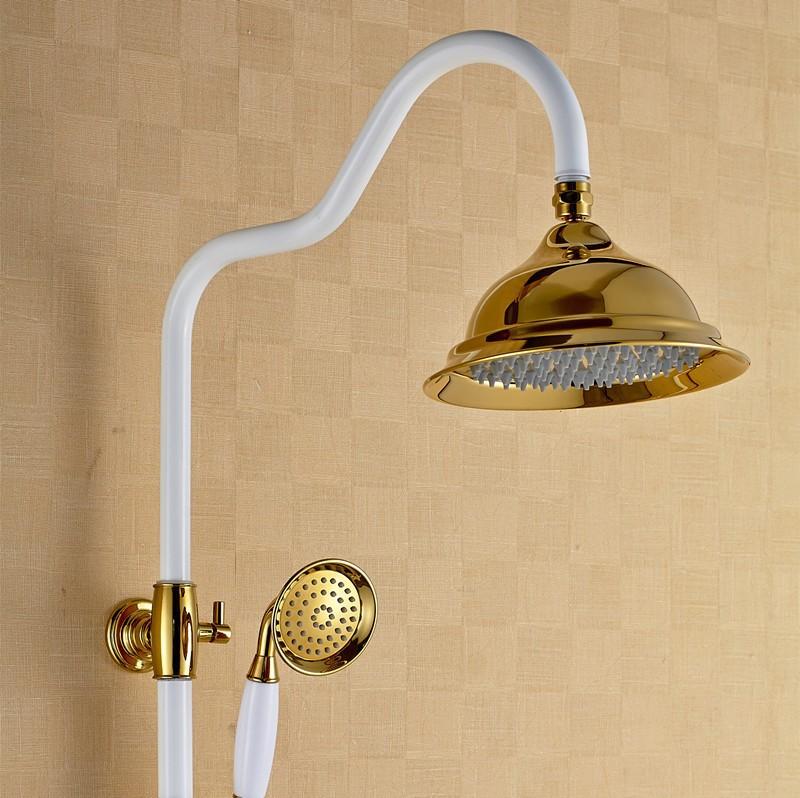 Antique Brass Shower Set Top Brass Spray