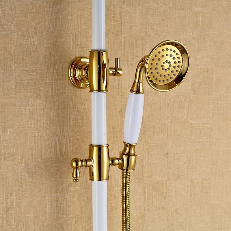Antique Brass Shower Set with Handshower