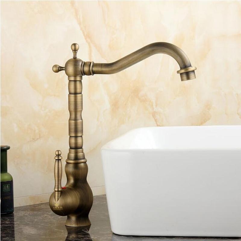Antique Bronze Long neck Kitchen Sink Faucet