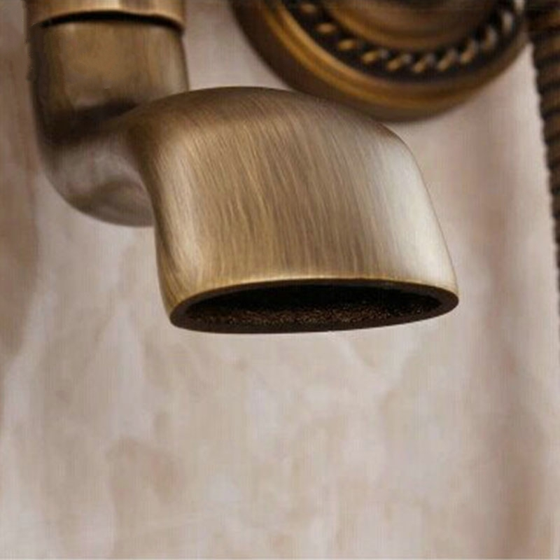 Antique Bronze Shower Head Wall Mount Dual Control with Hand Held Shower