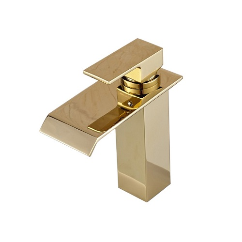 Basin Vanity Sink Faucet Single Handle Golden