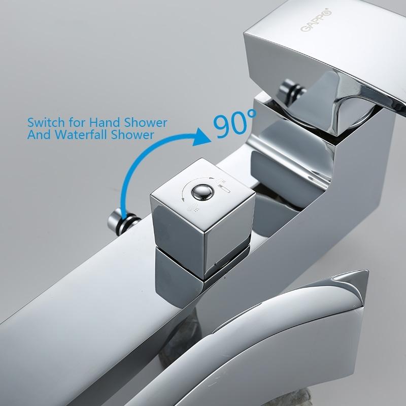 Beautiful Contemporary Rainfall Single Handle Bathroom Shower Faucet
