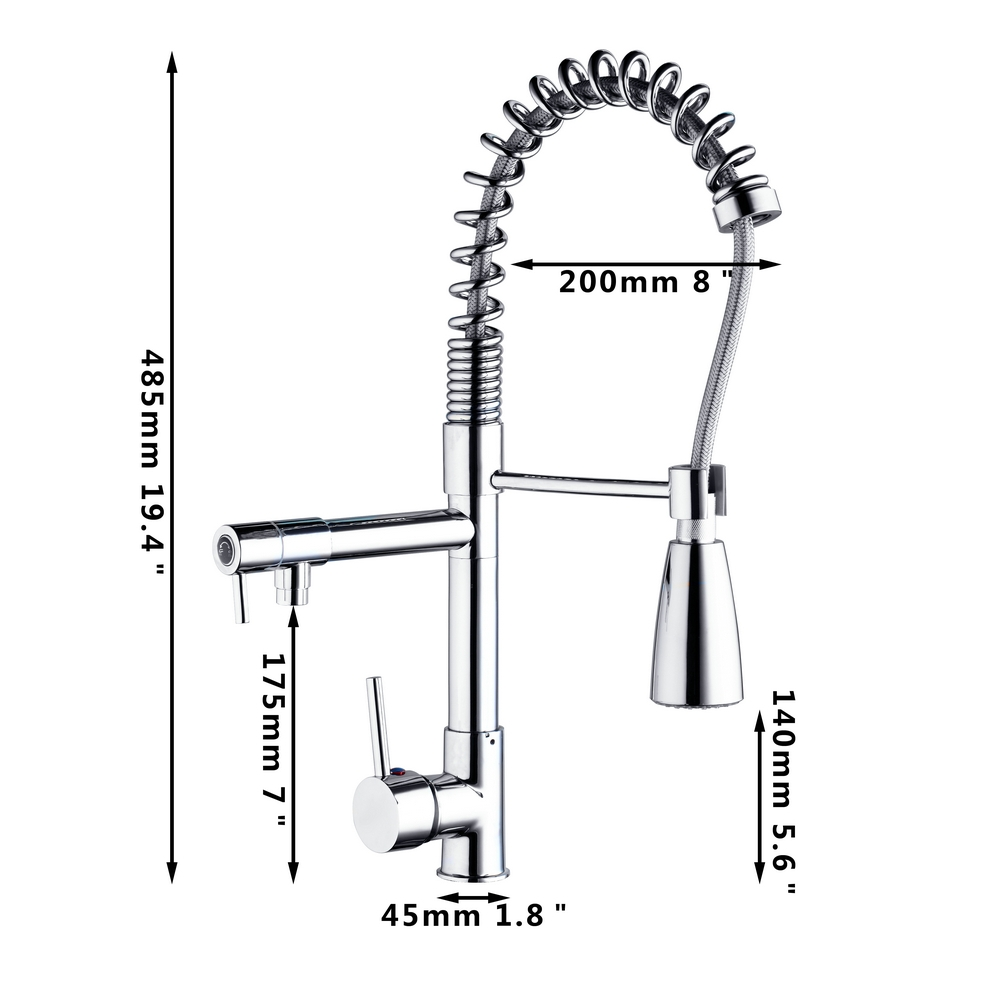 Beautiful LED Pull Down Single Handle Kitchen Faucet