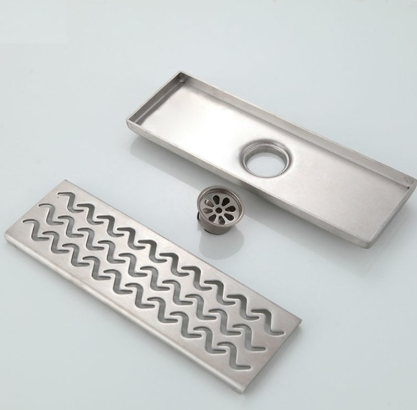 Beautiful Sea Wave Stainless Steel Bathroom Floor Drain