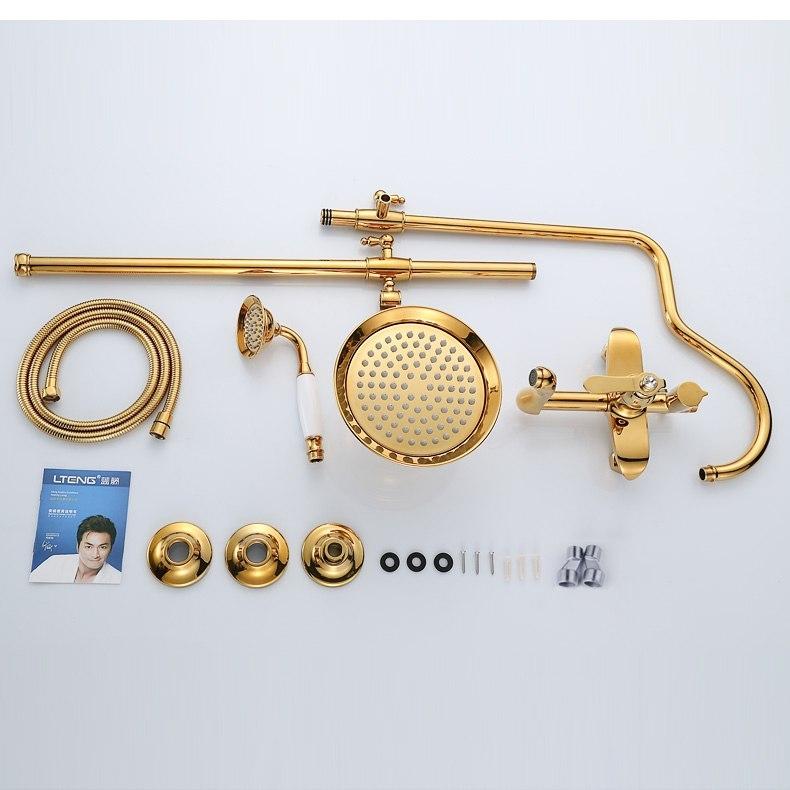 Best European Gold Ceramic Diamond Bathroom Shower with Handheld Shower
