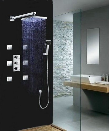 showerhead shower system with bodyjets