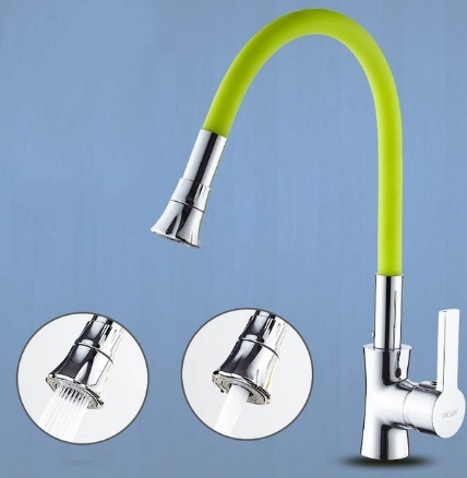 Black Chrome Finish Any Direction Rotate Kitchen Faucet