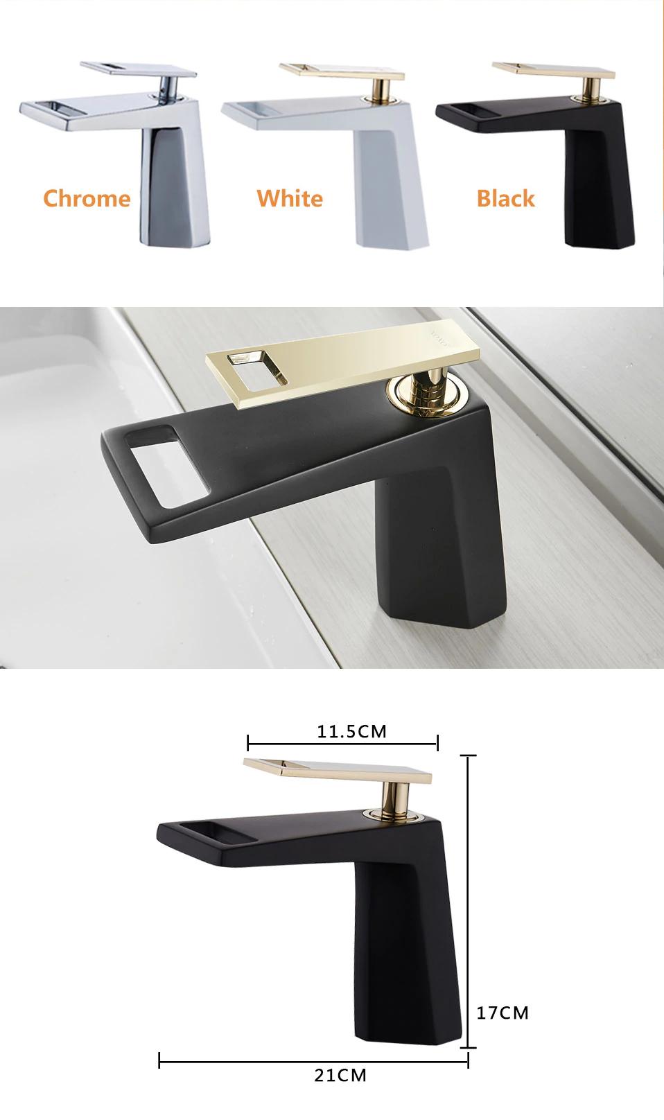 Black gold bathroom faucet