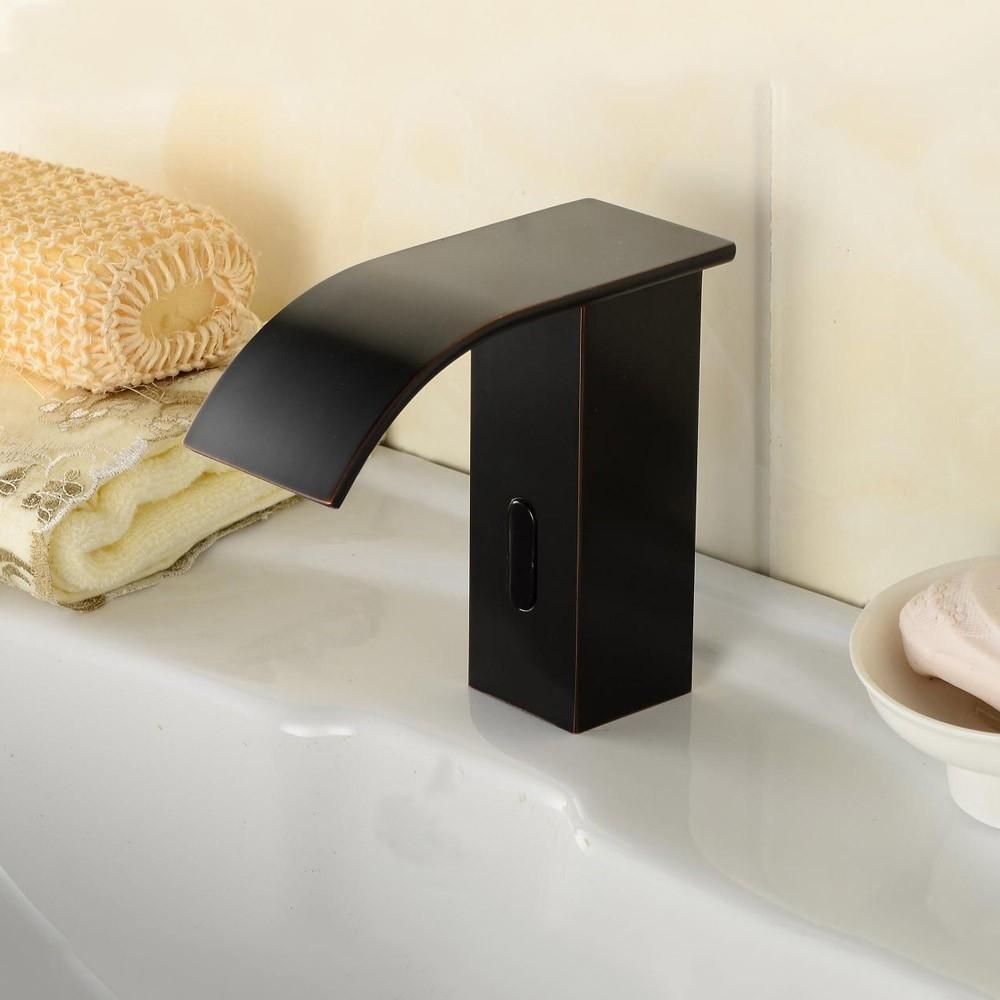 Black Oil-Rubbed Bronze Automatic Sensor Bathroom Faucet