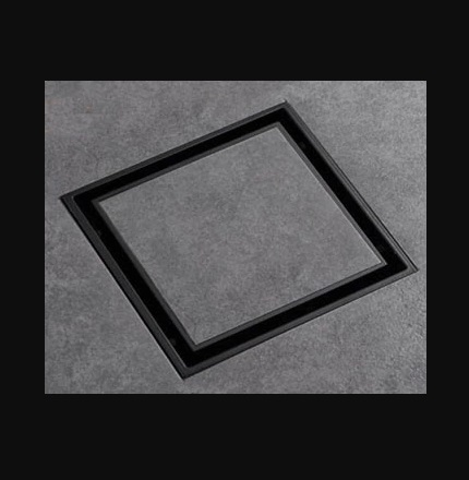Blackened Solid Brass 4 x 4 inches Square Bathroom Drain