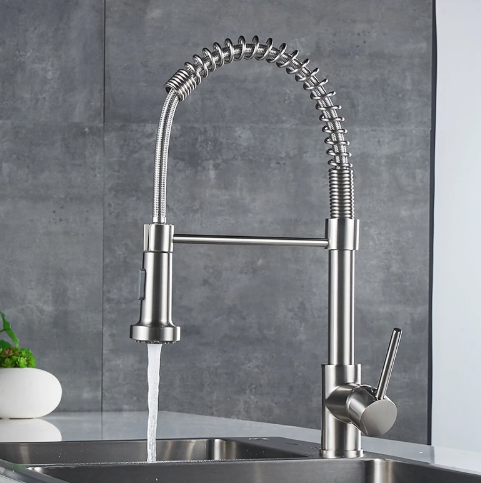 brushed nickel pull out kitchen faucets