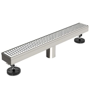 Brushed Nickel linear shower drain