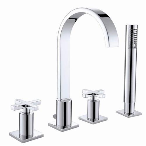 Contemporary Double Handle Widespread Bathroom Faucet Surf Faucet