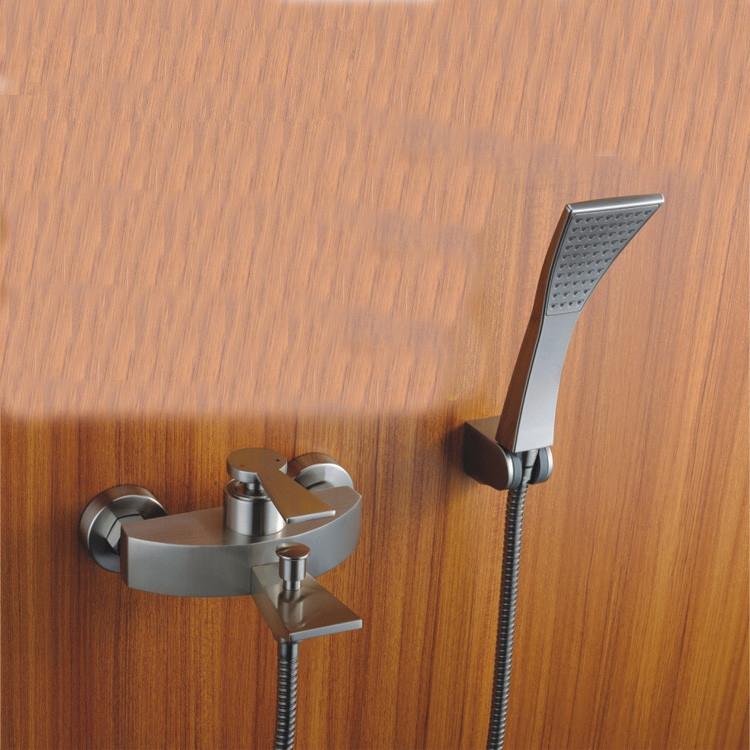 Calvin Polished Chrome Brass Mounted Luxury Rain Wall Bathroom Faucet