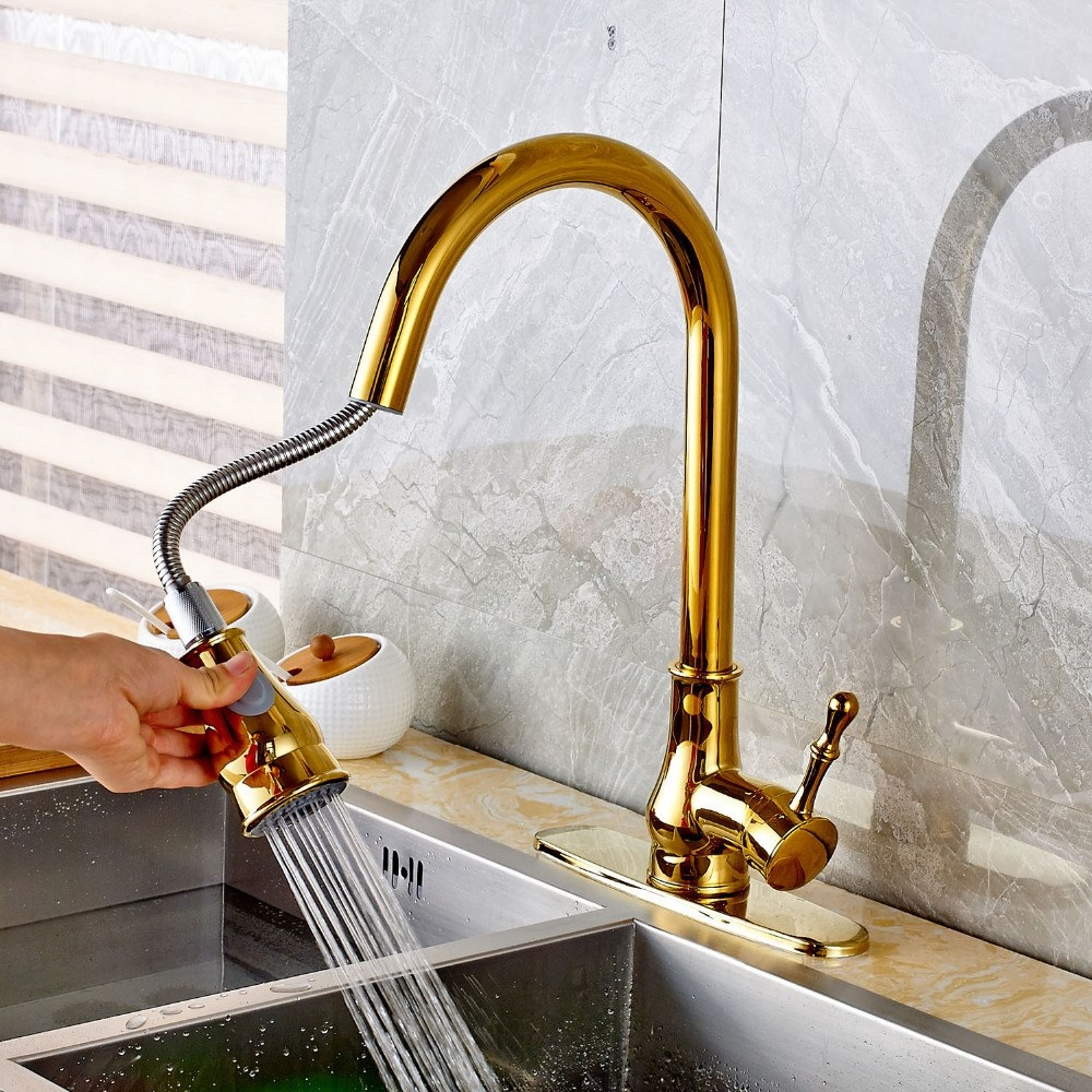 Juno Gold Kitchen Faucet