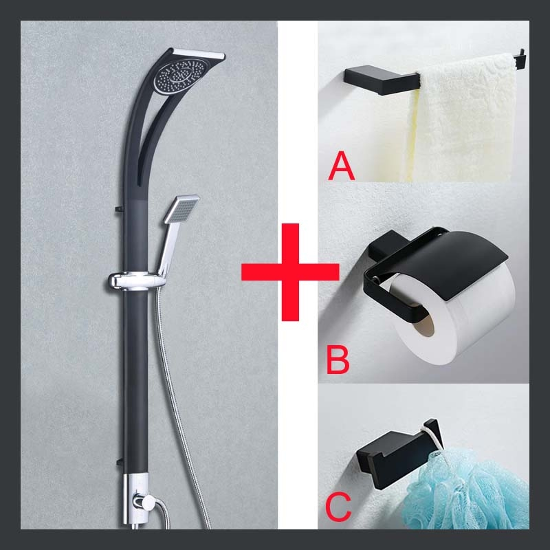 Chrome Finished 3 Piece Waterfall Bathroom Handheld Shower Head