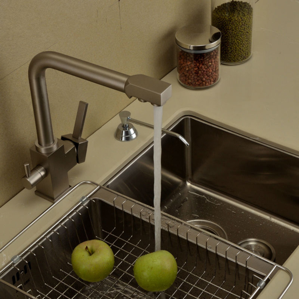 Water Filter Chrome Tap 3 Way Kitchen Sink Faucet