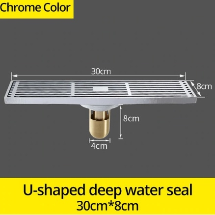 Chrome Finish Shower Drain