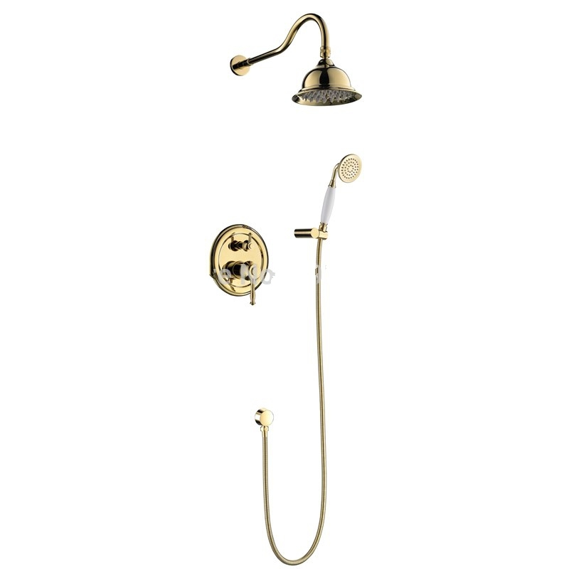 Classic Antique Dual Handle Bathroom Shower Head with Handheld Shower