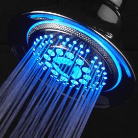 5.25 Water Powered 5 Function Color Changing LED Round Shower Head