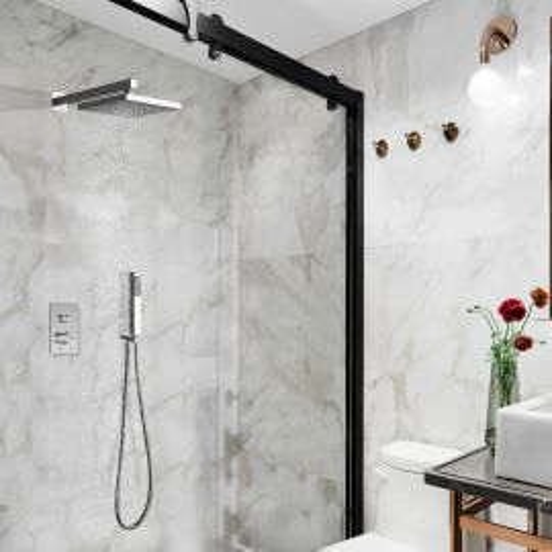 Bravat Chrome Shower Head Set