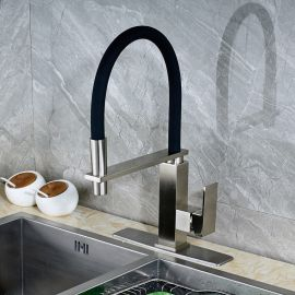 Juno Stainless Steel Kitchen Sink Faucet with Soap Dispenser
