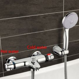 Chrome Thermostatic Wall Mounted Bathroom Shower-Head