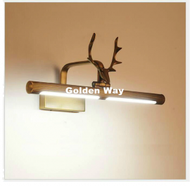 Juno New Wall Mount Antique Copper Metallic Finish Deer LED Bathroom Mirror Light Cover