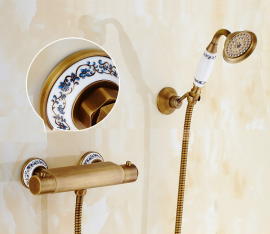 Juno European Brass Hand Held shower and Hose