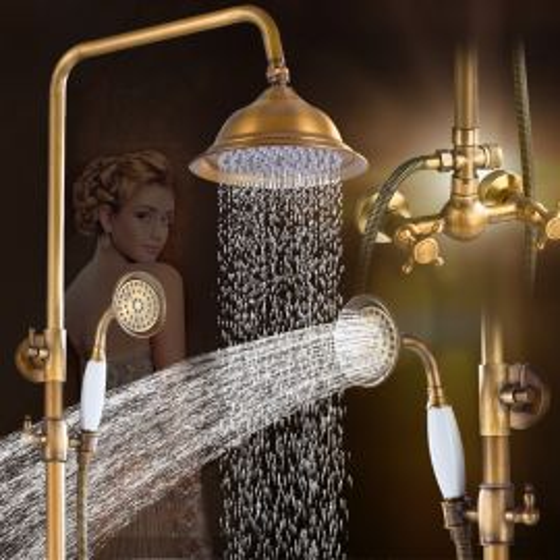 Vintage Solid brass hand held shower