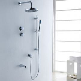 Fabeno Wall Mount Shower Head with Handheld Showers