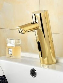 Juno Electronic Motion Sensor Residential & Commercial Gold Bathroom Faucet