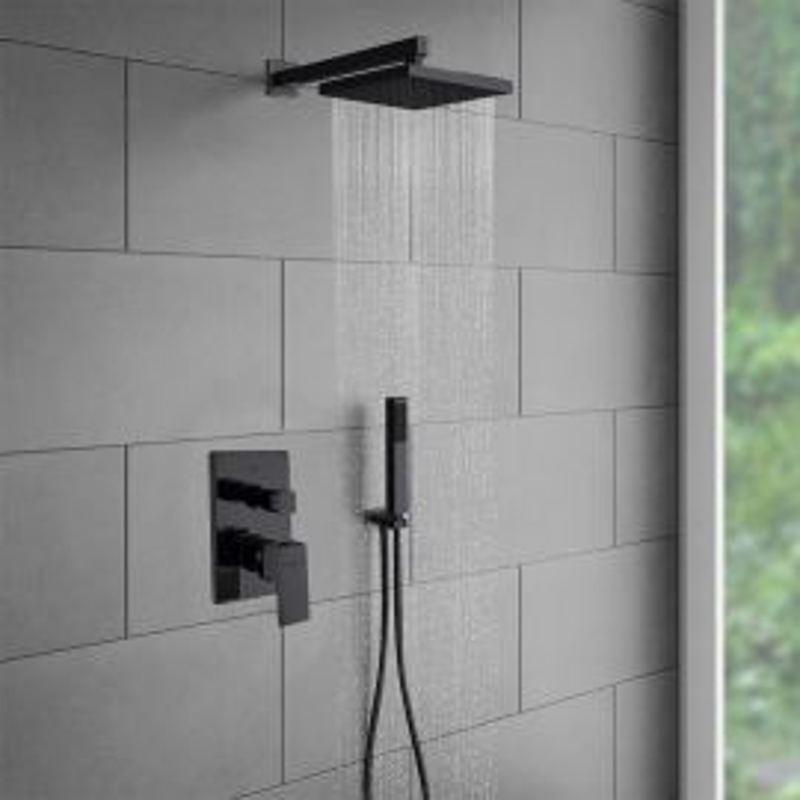Juno Wall Oil-Rubbed Bronze Shower Head Set