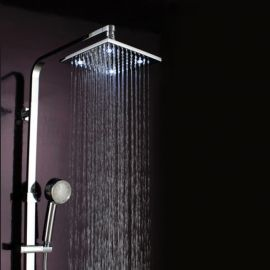 led shower set with hand shower