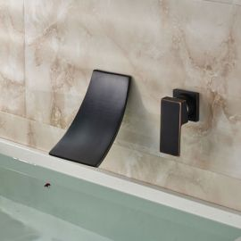 Waterfall Single Lever Bathroom Sink Faucet Dark Oil Rubbed Bronze