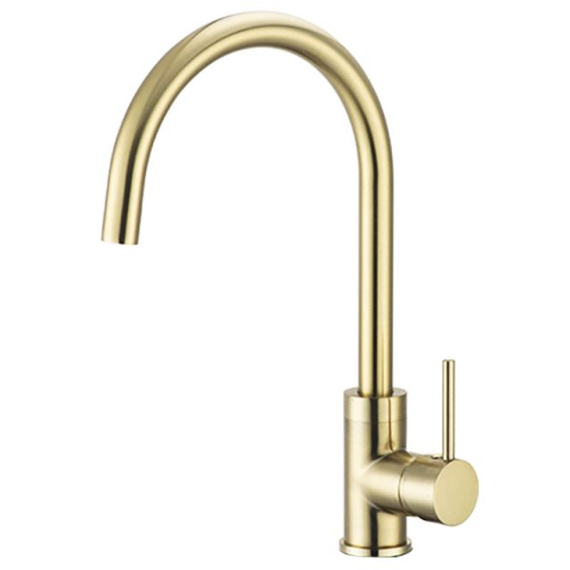 Brushed Gold Kitchen Faucet Deck Mount Single Handle