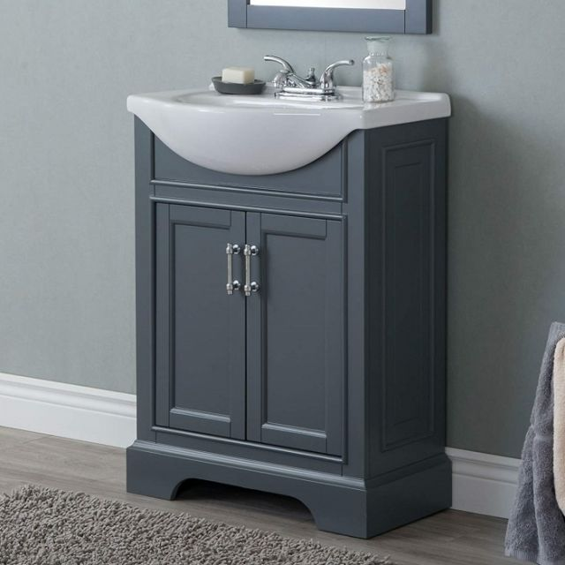 Dark Gray Bathroom Vanity Set