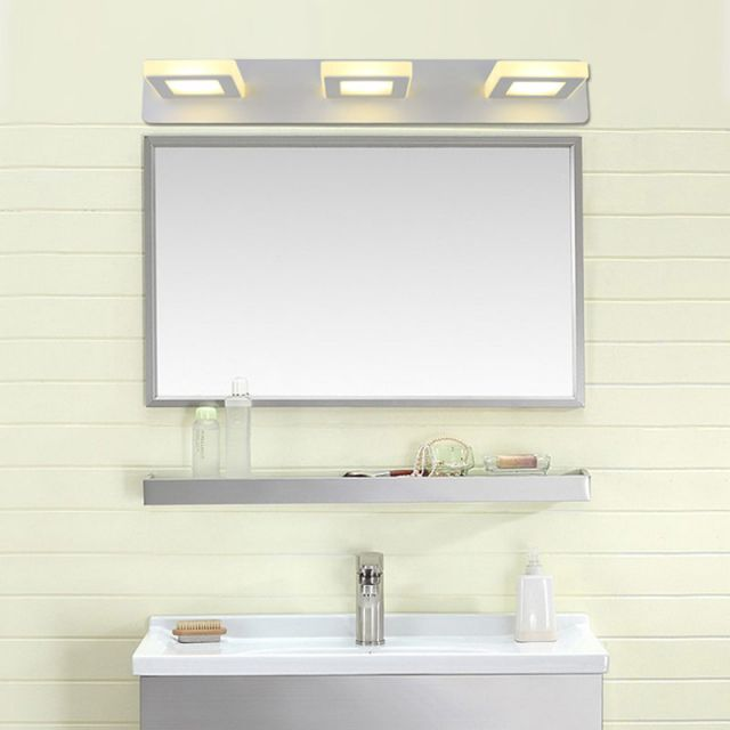 Juno New 3 Square White Wall Mount LED Mirror Light