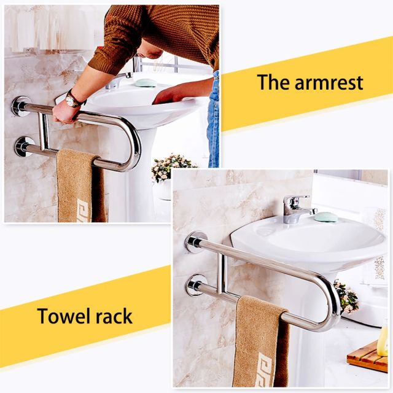 Juno New Chrome Finish Stainless Steel Towel Rack Holder Or Saftey Handrail