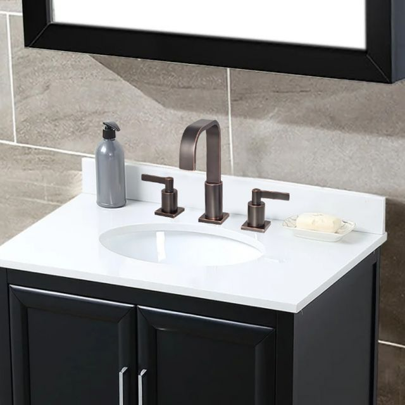 Widespread Dual Handle Deck Mount, Bronze Faucet Bathroom